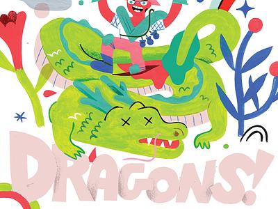 Let's Slay Some! dragon ball z fantasy sword dragons world dragons andy j miller creativity creative career podcast design lettering illustration creative pep talk