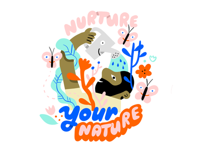 Don't Repress Yourself butterfly nature creative pep talk andy j pizza podcast art lettering floral creative