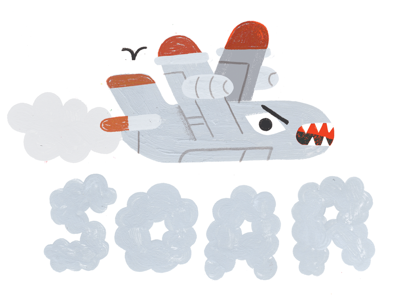 CREATIVE LIFT! podcast art creative pep talk andy j pizza soar lettering airplane