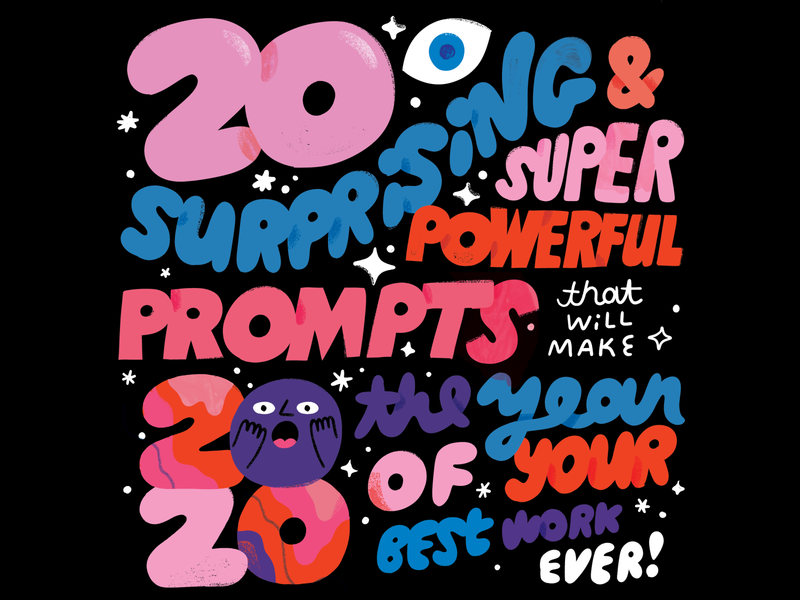 TIME TO GET PEPPED FOP 2020! bubble bubble letters creativity creative career podcast design lettering illustration creative pep talk