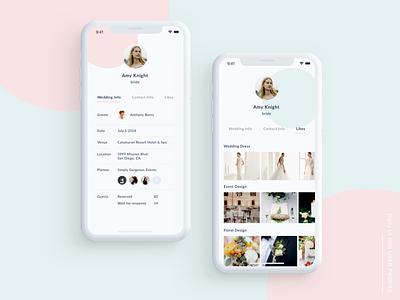Daily UI#006 User Profile wedding user profile daily ui app mobile