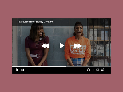 Daily UI 057 - Video player insecure video player dailyui 057 daily ui 057 figma daily ui challenge daily ui daily 100 challenge dailyui ux ui dailyuichallenge