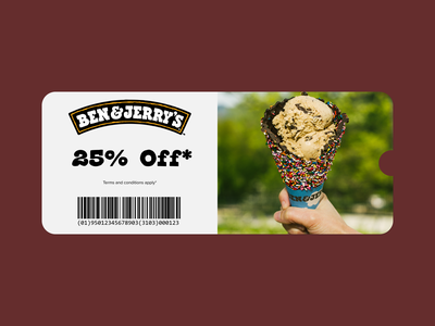 Daily UI 061 - Redeem Coupon figma design figma ben and jerrys dailyui61 daily ui challenge daily ui daily 100 challenge dailyui ux ui dailyuichallenge