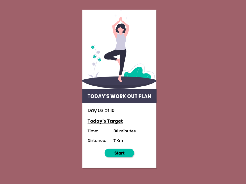 Daily UI 062 - Daily Workout workout app dailyui62 dailyui062 figma design figmadesign figma daily ui challenge workout daily ui daily 100 challenge dailyui ux ui dailyuichallenge