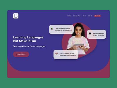 Tutoring Website website concept tutoring website tutoring website design education landing page landingpage website