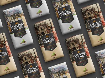 "logo ""LATTELIO de MARCO"" кофе упаковка ui ux illustration branding"