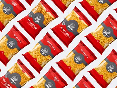 "Packaging for pasta ""TAYA"" упаковка pasta logo illustration branding"