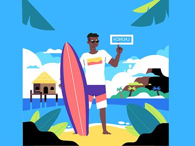 Holiday- Read for Animation design illustration