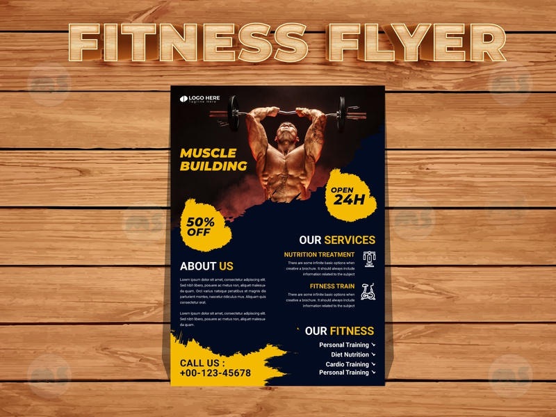 Gym Fitness Flyer Design t shirt design ui design brochure businesscard gym logo graphic design ux design body care fitness flyer gym flyer flyers design business flyer design creative flyer modern stylish minimal design vector illustrator branding