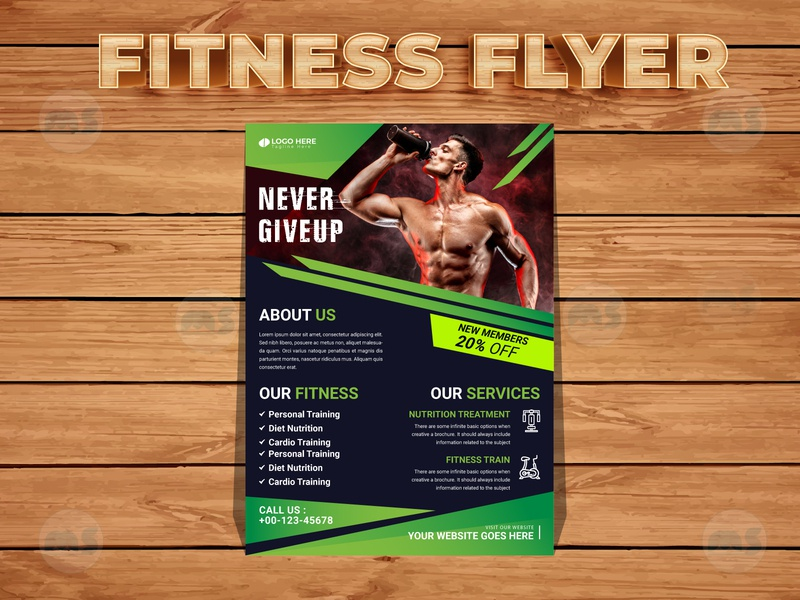 Gym Fitness Flyer brochure businesscard gym logo gym flyer fitness flyer vector art creative flyer design event flyer professional flyer business flyer design flyers design creative flyer unique design modern stylish minimal design vector illustrator branding