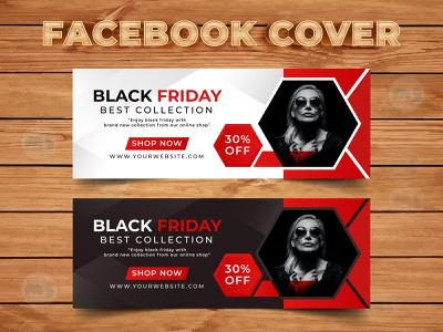 Black Friday Fashion Sale Facebook Cover Design Template vector art facebook story design cover design facebook banner facebook cover facebook visual design black friday flyer black friday sale flat web app icon illustration vector typography ux ui branding