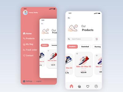 Urban Shoes Store icon web minimal flat app ui design
