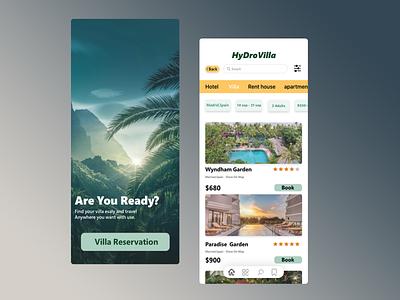Booking App branding ux web ui minimal flat design app