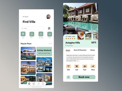 Booking App website typography ux web ui flat minimal design app