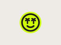 Smile Vibes 😎 vibes smile smiley surfing surf stickers sticker skull palm tree logo badge design badge illustration shane harris