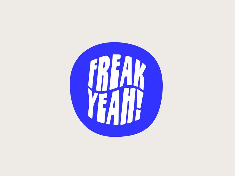 Because It's Friday 👽 blue freak vibes typography type surfing stickers sticker palm tree logo badge design badge illustration shane harris