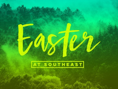 Easter at Southeast trees crtvmin church forest yellow green neon southeast easter