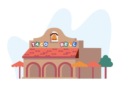 For the Love of the Bell pt. II flat vintage taco tuesday tacos taco bell shane harris retro restaurant illustration icon california burritos
