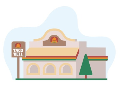 For the Love of the Bell pt. III flat vintage taco tuesday tacos taco bell shane harris retro restaurant illustration icon california burritos