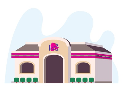 For the Love of the Bell pt. IV flat vintage taco tuesday tacos taco bell shane harris retro restaurant illustration icon california burritos