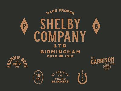 The Shelby Company shane harris vintage lettering london england mafia mob illustration logo type netflix peaky blinders