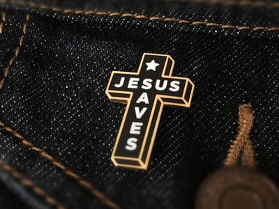 Jesus Saves Enamel Pin shane harris black church christian pins pin lapel pin jesus gold enamel pin cross