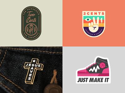 Top 4 of 2018 patch cross badge design two cents sticker lapel pin enamel pin enamelpin logo badge illustration shane harris