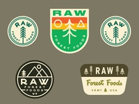 Raw Forest Foods Stickers 1.4