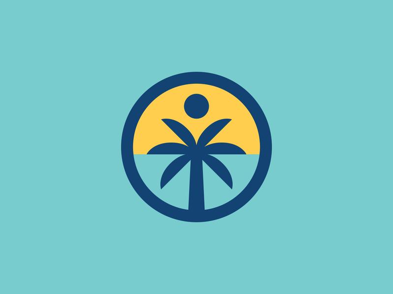 Brevard Rebrand Rejects shane harris brevard badge design branding branding design sun palm tree florida icon logo illustration badge