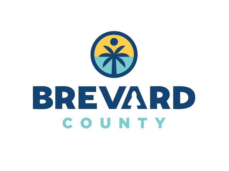 Brevard Rebrand Rejects palm tree florida sun branding design branding badge design brevard icon badge blue logo illustration shane harris