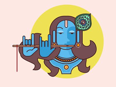 Lord Krishna graphic avatar graphic art character design avatar mythology lord krishna photoshop vector illustration