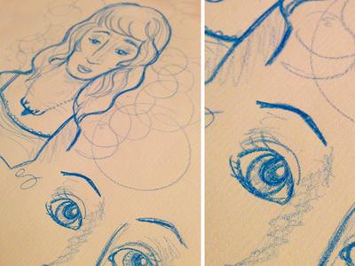 Croquis au crayon aquarelle sketch eyes drawing