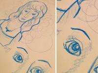Croquis au crayon aquarelle