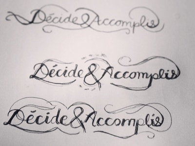 Decide & Made handlettering lettering sketch drawing typo typographie
