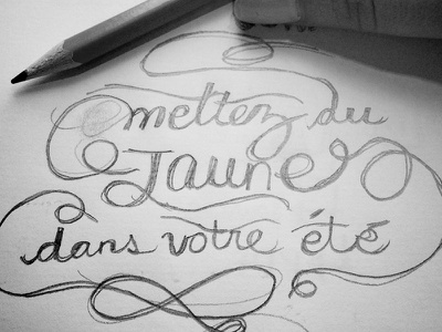Jaune handlettering lettering sketch drawing typo typography letters