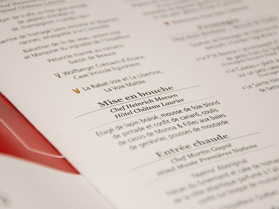 Red Cross menu - Detail 1 red typographie menu detail macro