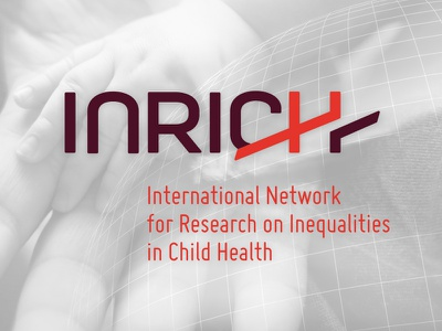 Inrich logo logo red research science doctors