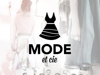 Mode & Cie logo dress black fashion