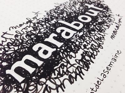 Marabout - Grumpy typography sketch quick