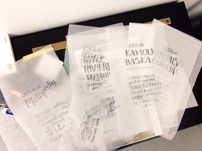 BSL handmade typography  sketch tracing paper poster drawing handlettering