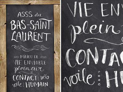 BSL typography - final result typography board chalk script