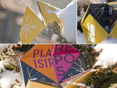 Coincoin play yellow paper print xmas christmas