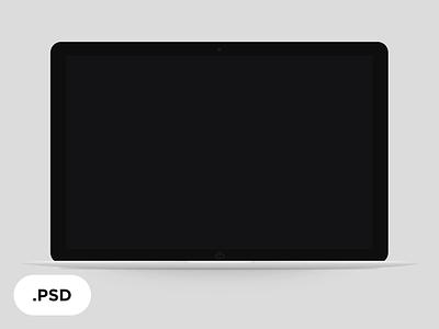 Lap BW — free laptop macbook white black flat mockup free minimal template