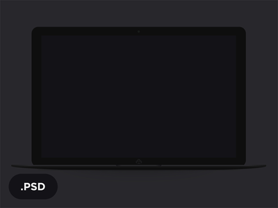 Lap B — free laptop macbook black flat mockup free minimal template