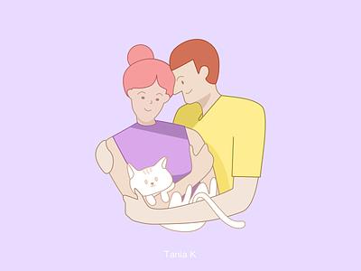 illustration👩❤️👨 app illustration