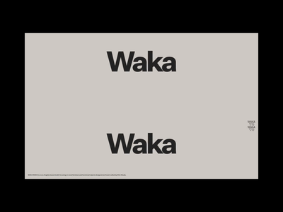 Waka Waka | Homepage Interaction frontend animation editorial minimal ui code dev motion interaction design interaction