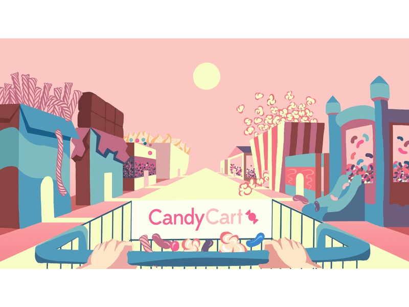 Candy Cart Frames Rebrand (Version 2) app schoolofmotion animation mograph motion graphics illustrationformotion illustration motiongraphics motion design