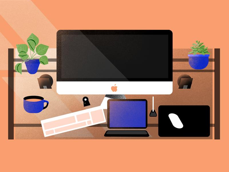 Workspace Illustration design motion graphics illustration art motiongraphic schoolofmotion illustrationformotion mograph motion motiongraphics illustration