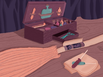 Wizards and Witches Mtn Retreat Frame 3 of 8 motiongraphic schoolofmotion illustration art motiongraphics motion graphics design mograph motion illustration illustrationformotion