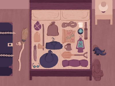 Wizards and Witches Mtn Retreat Frame 7 of 8 motiongraphics schoolofmotion motiongraphic motion graphics illustration art illustrationformotion illustration motion mograph design